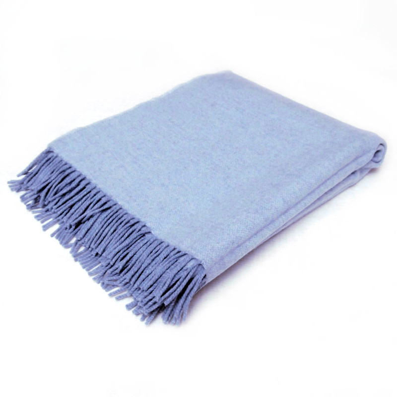 100% Lambswool Solid Blue
