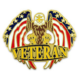 Veteran Eagle Pin