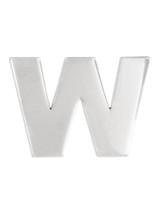 Silver W Pin