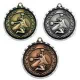 "2"" Diamond Cut Cheer Medal - Engravable"