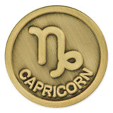 Antique Gold Capricorn Zodiac Pin