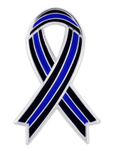 Thin Blue Line Ribbon Pin