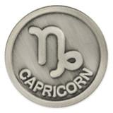 Antique Silver Capricorn Zodiac Pin