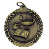 Lamp of Knowledge Medal - Engravable