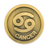 Antique Gold Cancer Zodiac Pin