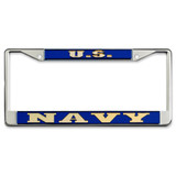 Navy Mirrored Plate Frame