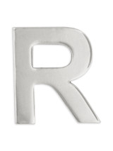 Silver R Pin