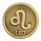 Antique Gold Leo Zodiac Pin