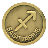 Antique Gold Sagittarius Zodiac Pin