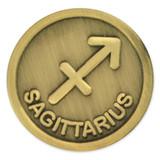 Antique Gold Sagittarius Zodiac Pin