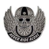 Never Ride Alone Pin