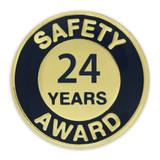 Safety Award Pin - 24 Years
