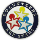 Volunteers are Stars Pin