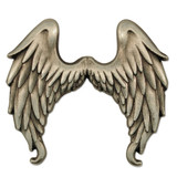 Antique Silver Angel Wings Pin