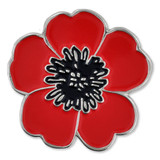 Poppy Flower Lapel Pin