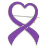 Purple Heart Ribbon Brooch