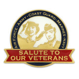 Salute Our Veterans Pin