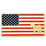 American Flag Democrat Pin