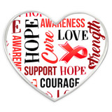 Red Heart Awareness Words Pin