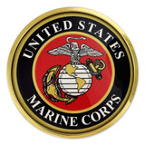 Officially Licensed U.S. Marines Chrome Emblem Decal