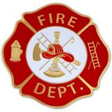 Fire Department Badge Pin