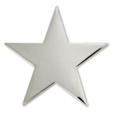 Silver Star Pin Magnetic Back