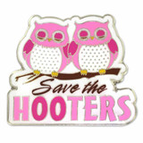 Breast Cancer Save the Hooters Pin