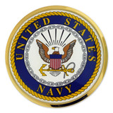U.S. Navy Chrome Emblem Decal