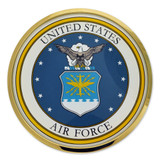 U.S. Air Force Chrome Emblem Decal