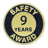 Safety Award Pin - 9 Years