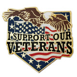 I Support Our Veterans Pin