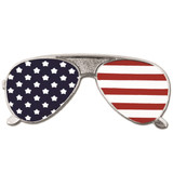 American Flag Sunglasses Pin