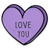 Love You Candy Heart Pin
