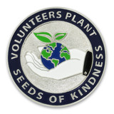 Volunteers Plant Kindness Pin