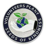 Volunteers Plant Kindness Pin