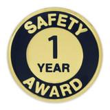 Safety Award Pin - 1 Year