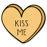 Kiss Me Candy Heart Pin