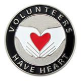 Volunteers Have Heart Pin