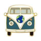 World Hippie Bus Lapel Pin
