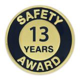 Safety Award Pin - 13 Years