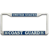 Officially Licensed U.S. Coast Guard Plate Frame