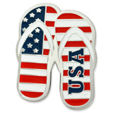Patriotic Flip Flops Pin