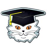 Cat Graduate Pin