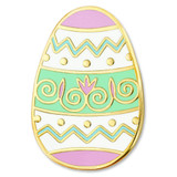 Decorated Easter Egg Pin