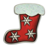 Holiday Stocking Lapel Pin