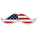 Patriotic Mustache Pin