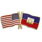USA and Haiti Flag Pin