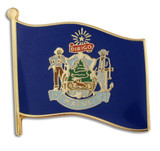 Maine State Flag Pin