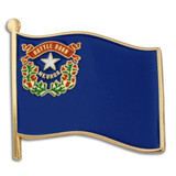 Nevada State Flag Pin