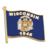 Wisconsin State Flag Pin